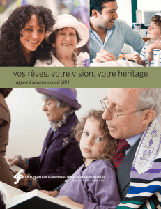 2013 - Jewish Community Foundation of Montreal