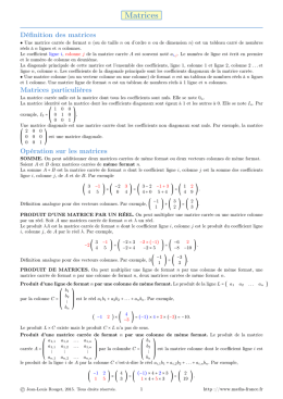 Matrices - Math France