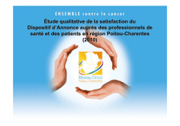 Evaluation qualitative / satisfaction du DA / patients