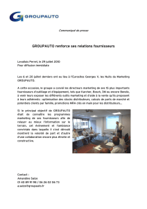 Groupauto lance les nuits du marketing