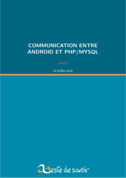 communication entre android et php/mysql