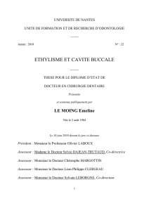 ethylisme et cavite buccale - Service Central d`Authentification