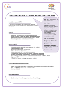 prise en charge du reveil des patients en sspi