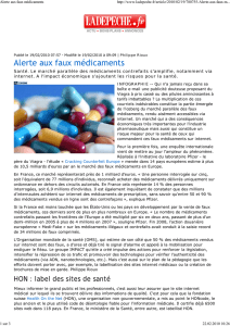 Alerte aux faux médicaments - Health On the Net Foundation