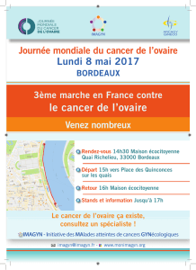 le cancer de l`ovaire - Club de la Presse de Bordeaux