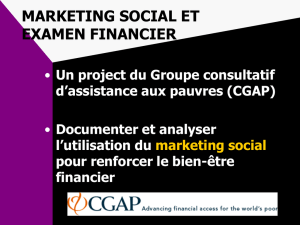 marketing social et examen financier
