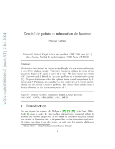 [math.NT] 2 Jan 2004 Densité de points et