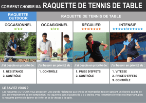 comment choisir ma raquette de tennis de table