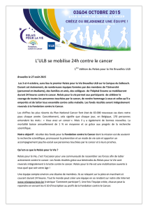 L`ULB se mobilise 24h contre le cancer