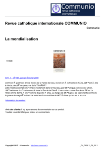 Revue catholique internationale COMMUNIO