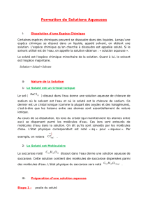 Formation de Solutions Aqueuses