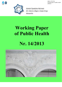Working Paper of Public Health Nr. 14/2013