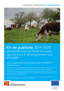 Kit de publicité 2014-2020 - L`Europe s`engage en Normandie