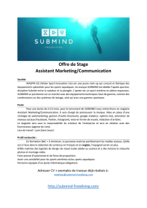 Offre de Stage Assistant Marketing/Communication