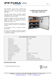 ALIMENTATION SECOURUE 230V 50Hz / 24VDC 35A