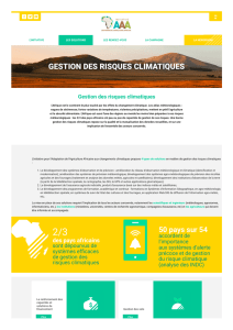 gestion des risques climatiques - Adaptation of African Agriculture