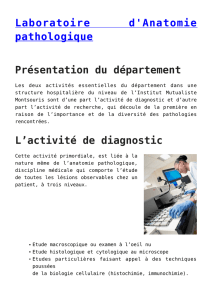 Laboratoire d`Anatomie pathologique
