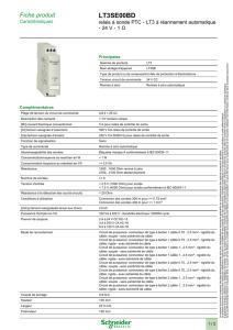 Schneider Electric LT3SA00MW Relais /à Sonde PTC LT3 /à R/éarmement Automatique 24-230VAC 2OF Tension Multiple 5 A