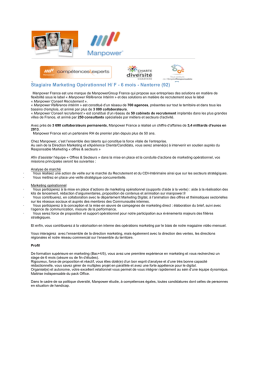Stagiaire Marketing Opérationnel H/ F - 6 mois