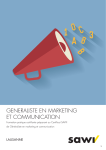 GENERALISTE EN MARKETING ET COMMUNICATION
