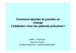 Comment aborder et prendre en charge l addiction chez les patients