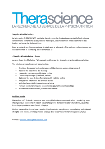 Stagiaire Web Marketing : Le laboratoire THERASCIENCE
