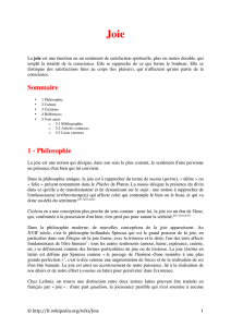 Sommaire 1 - Philosophie