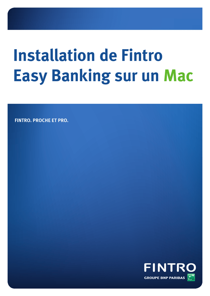 BANKING EASY TÉLÉCHARGER FINTRO