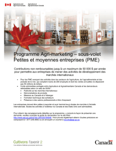 Programme Agri-marketing – sous