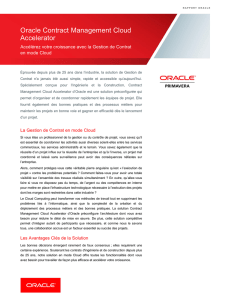 Rapport sur la Solution Oracle Contract Management Cloud