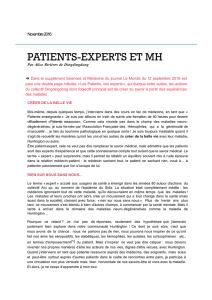 patients-experts et mh - Association Huntington France