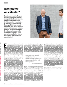 Interpréter ou calculer?