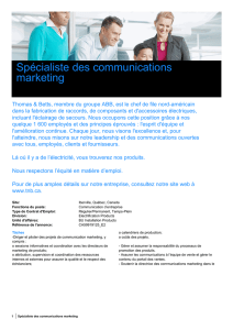 Spécialiste des communications marketing