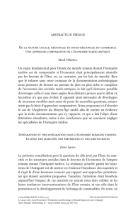 ABstrActs IN FreNch De la nature locale, régionale et inter