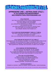 astrologie utile fiche - Formation