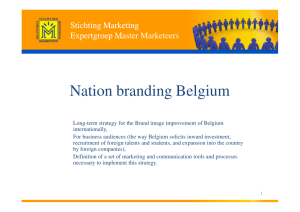 Nation branding Belgium