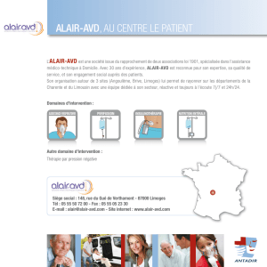 ALAIR-AVD, Au CenTre Le pATienT
