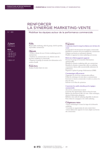 renforcer la synergie marketing-vente