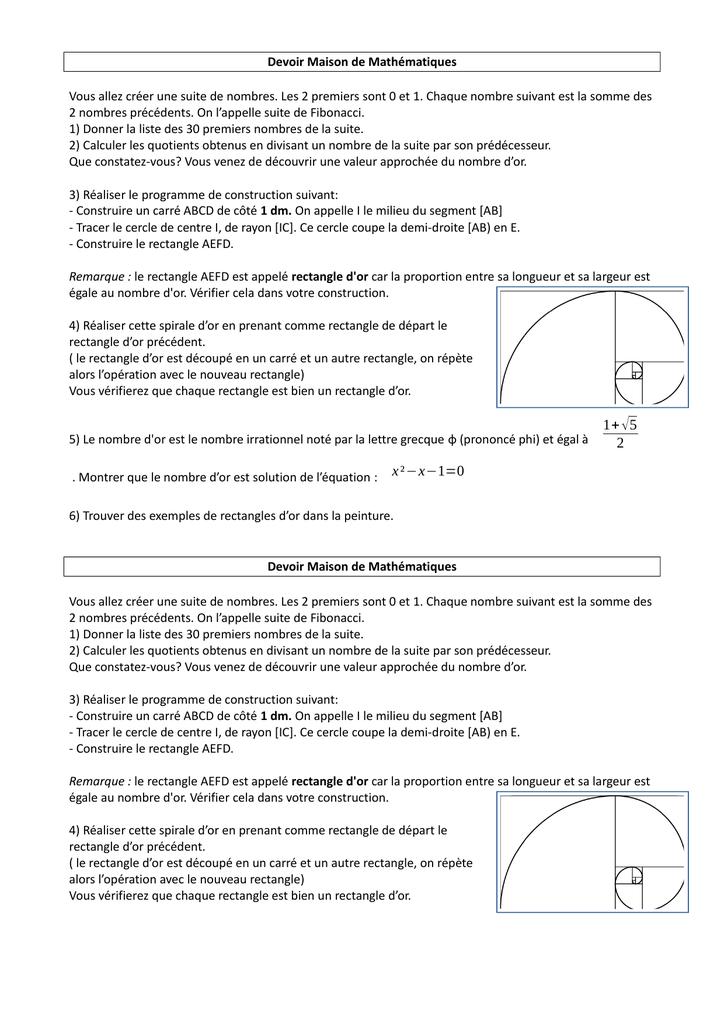 Rectangle D Or Et Spirale