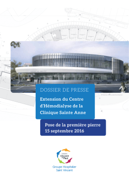 dossier de presse - Fondation Vincent de Paul