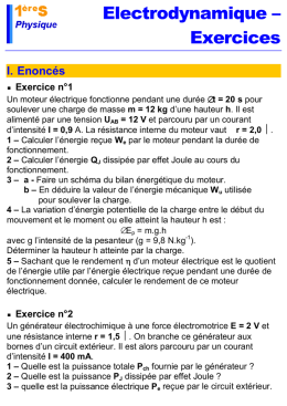 Electrodynamique – Exercices