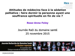Attitudes de médecins face à la sédation palliative - HES-SO