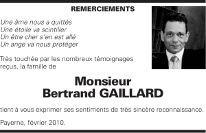 Monsieur Bertrand GAILLARD