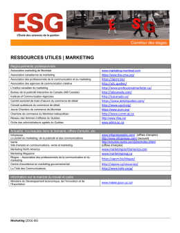 Marketing - Carrefour des stages | ESG UQAM