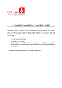 1 STAGIAIRE WEB MARKETING ET MARKETING DIRECT