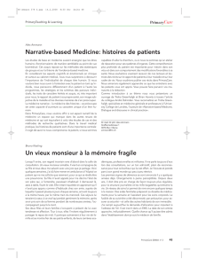Narrative-based Medicine: histoires de patients