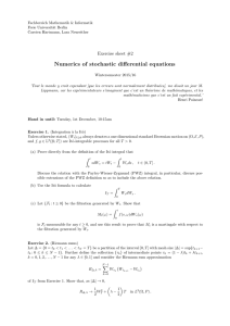 Numerics of stochastic differential equations