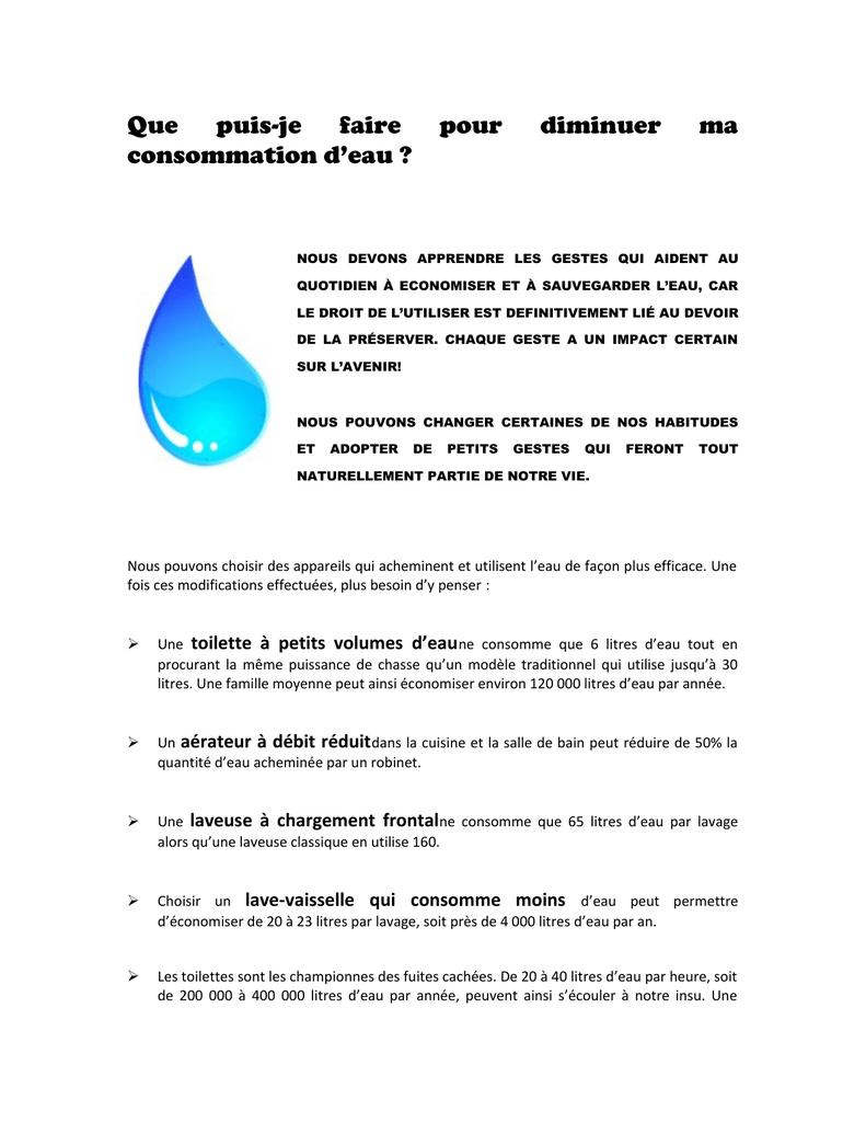 Comment Économiser L Eau Au Quotidien comment diminuer sa consommation d`eau