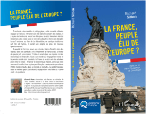 LA FRANCE, PEUPLE ÉLU DE L`EUROPE ?