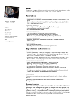CV complet - MARC PINON